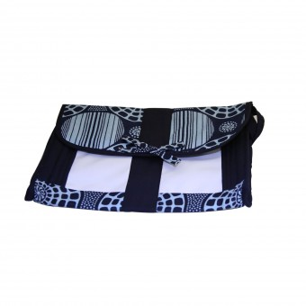 Angaza Clutch (Royal/Black)