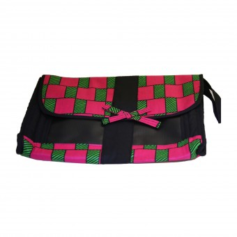 Angaza Clutch (Rose/Black)