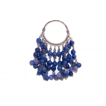 Lapis Bead Earring Raw