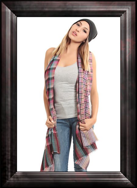Checkmate Cashmere Scarf Scarf