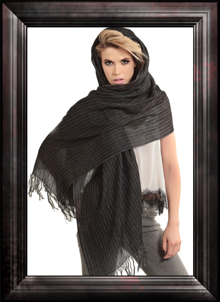 Sweet Pinstripe Cashmere Scarf